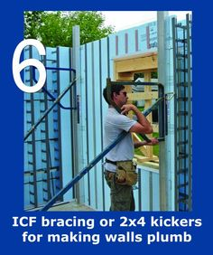 Vertical ICF installation Energy Efficient Homes, Energy Efficiency, Icf Home, Insulated Concrete Forms, Building A House, Building Ideas, Under Construction, Green Bay, Plumbing