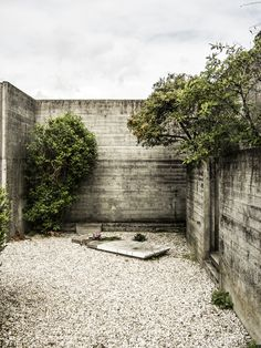 Brion-Vega Cemetery (designed and constructed between 1969 and 1978) by Carlo Scarpa architect, at San Vito d'Altivole, Italy.