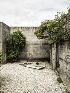 Brion-Vega Cemetery  by Carlo Scarpa architect, at San Vito d'Altivole, Italy.