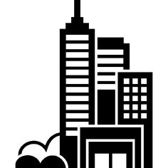 Modern city towers buildings group I Free Icon