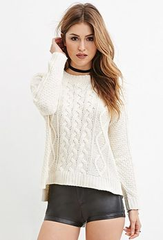 Forever 21 is the authority on fashion & the go-to retailer for the latest trends, styles & the hottest deals. Shop dresses, tops, tees, leggings & more! Forever 21, Shop Forever, Long Sleeve Sweater, Long Sleeve Tops, Cardigan Fashion, Pull, Autumn Winter Fashion, Latest Trends, Sweaters For Women
