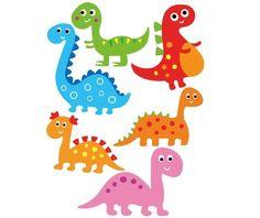 Set 6 stickere Dinozauri