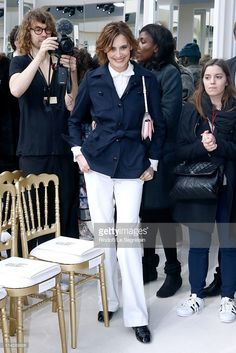 Ines de la Fressange attends the Chanel show as part of the Paris Fashion Week Womenswear Fall/Winter 2016/2017 on March 8, 2016 in Paris, France.