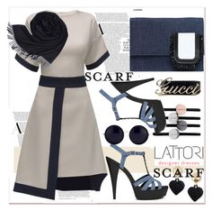"""""""Navy blue"""" by paculi ❤ liked on Polyvore featuring Lattori, Yves Saint Laurent, N°21, The Row, Moschino, Loro Piana and lattori"""