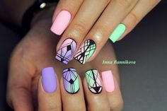 Having short nails is extremely practical. The problem is so many nail art and manicure designs that you'll find online Disney Acrylic Nails, Best Acrylic Nails, Cute Acrylic Nail Designs, Nail Art Designs, Fabulous Nails, Perfect Nails, Confetti Nails, Aztec Nails, Happy Nails