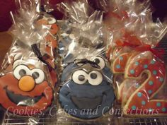 Elmo & CookieMonster Cookie Favors | Flickr - Photo Sharing!