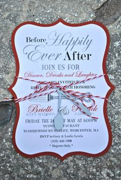 Rehearsal Dinner Invitation by OuttheBoxCreative on Etsy