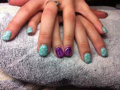 Simplistic Disney nails - Little Mermaid favorite!