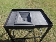 homemade coal forge plans source http searchpp com coal forge plans Forging Tools, Blacksmithing Knives, Forging Metal, Metal Projects, Welding Projects, Brake Drum Forge, Home Forge, Homemade Forge, Fire Crafts