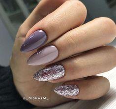 Beauty Nails – DIY nail designs # vernis à ongles # gel nails # nail designs # … Nail Art Designs, Purple Nail Designs, Acrylic Nail Designs, Nails Design, Lilac Nails, Glitter Nails, Fun Nails, Purple Glitter, Lavender Nails