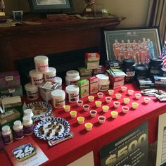 AdvoCare display from my last Performance Elite line meeting ❤️ product tasting