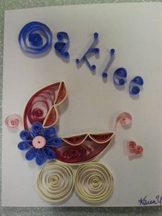 Baby Shower card - Quilled Creations Quilling Gallery