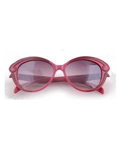 Maroon Vintage Plastic Frame Wayfarer Sunglasses