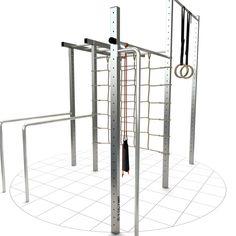 Turngerät TOLYMP Max, komplett ausgestattet für die ganze Familie Calisthenics Equipment, Outdoor Gym Equipment, Gym Design, At Home Gym, Crossfit, Gym, Sandbox, Gymnastics Equipment, Cross Fitness