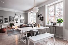 Stylish Apartment Decor in Stockholm by Scandinavian Homes Steel Frame Doors, Living Room Scandinavian, Scandinavian Design, Interior Architecture, Interior Design, Living Room Inspiration, Inspiration Boards, Apartment Design, Home Living Room