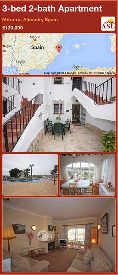 3-bed 2-bath Apartment in Moraira, Alicante, Spain ►€130,000 #PropertyForSaleInSpain