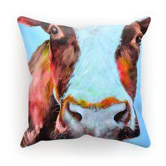 Autumn Cow Cushion