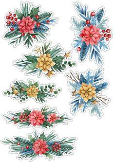 Christmas Stickers Printable, Sticker Printable, Printable Planner Stickers, Journal Stickers, Printable Scrapbook Paper, Scrapbook Stickers, Buy Stickers, Christmas Decoupage, Tumblr Stickers