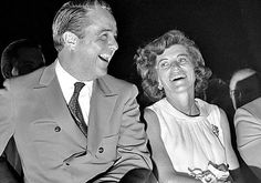"""R. Sargent Shriver (1915 - 2011)  a lawyer and Kennedy in-law, worked for JFK's and Lyndon Johnson's administrations. He launched social programs including the Peace Corps, Head Start and the Job Corps and led the """"war on poverty."""" Programs he created """"still change people's lives,"""" says daughter Maria Shriver. Above, with his wife Eunice in 1968."""