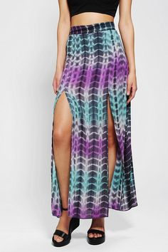 Lovers & Friends Pandora Silky Slit Maxi Skirt #urbanoutfitters