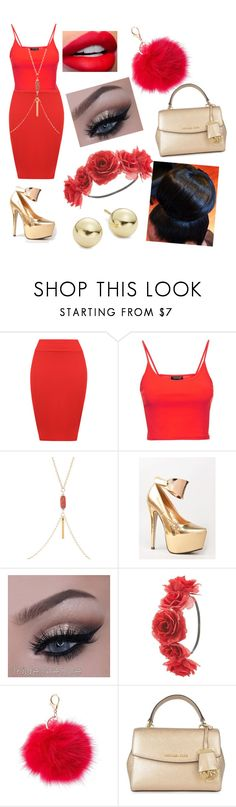 """""""Untitled #156"""" by dimmmples ❤ liked on Polyvore featuring WearAll, Topshop, Kiss Kouture, Charlotte Russe, MICHAEL Michael Kors and Lord & Taylor"""