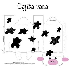 cajita vaca 1st Birthday Party Themes, Farm Birthday, Cow Baby Showers, Baby Boy Shower, Diy Crafts Hacks, Farm Party, Paper Toys, First Birthdays, Crafts For Kids