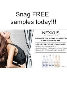 """Nexxus has salon quality haircare products, & today they have FREE samples! Just click Snag This now to fill out the very easy form & order yours while they last! Please """"like"""" this FREE sample so your Facebook friends can Snag it too. Check out this deal on Nexxus shampoo here at Amazon!"""