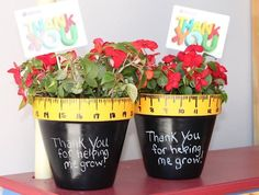 teacher gifts - flower pots- can be decorated for every season