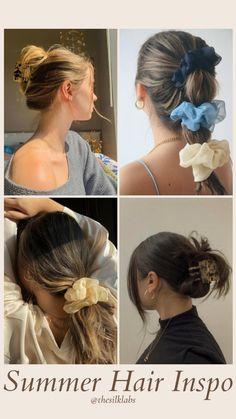 Messy Bun Hairstyles, Fringe Hairstyles, Modern Hairstyles, Everyday Hairstyles, Summer Hairstyles, Girl Hairstyles, Triangle Hair, Metal Hair Clips, Girl Life Hacks