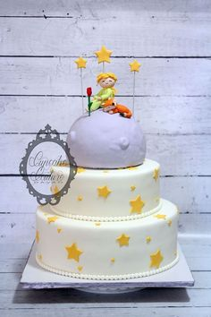 Le Petit Prince Birthday Cake Little prince www.facebook.com/cupcakecouturedavao More Little Prince Party, The Little Prince, Boy Birthday Parties, Birthday Cake, Prince Cake, Prince Birthday, Cake Art, Party Cakes, How To Make Cake