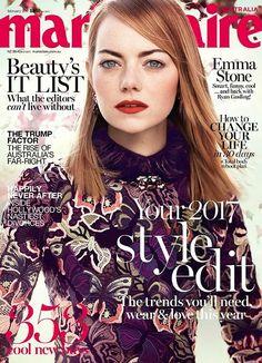 Emma Stone for Marie Claire Australia February 2017