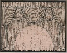 Stage Curtains theater stamp wood Mounted   by pinkflamingo61, $17.50
