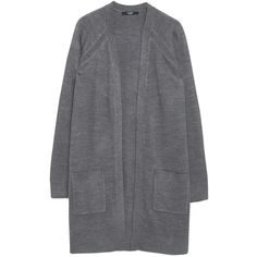Mango Side Pocket Cardigan , Medium Grey (1.390 RUB) ❤ liked on Polyvore featuring tops, cardigans, medium grey, lightweight cardigan, layering cardigans, grey open front cardigan, long sleeve tops and lightweight open front cardigan