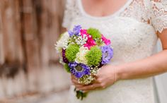 Vintage Bridal Bouquet . violet, green and pink Brautstrauß in grün, lila, pink by FÜR IMMER DEINS EVENT  Fotografie: Mica Glimmstern