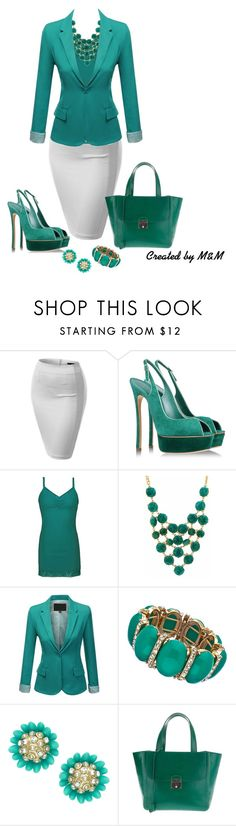 """""""~BOSS LADY~"""" by marion-fashionista-diva-miller ❤ liked on Polyvore featuring J.TOMSON, Casadei, BKE, Blu Bijoux, Accessorize, Marc Jacobs, WorkWear and officewear"""