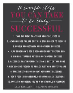 10 Rules that Lead to True Success