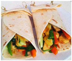 Healthy vegetable wrap!