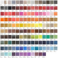Hermes color chart. Inspiring, vibrant color choices and combinations.