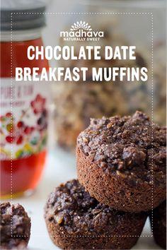 Chocolate Date Breakfast Muffins | Madhava