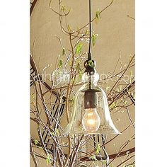 60W E27 Pendent Light with Glass Shade - USD $ 134.99