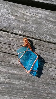 Turquoise Sea Glass Pendant, Sea Glass Jewelry, True Blue, Beach Glass Jewelry, Blue Sea Glass, Sea Glass Necklace, Beach Glass Necklace by AngelBeachBathArt on Etsy