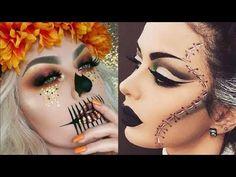 Maquillajes para HALLOWEEN 2017 / easy halloween makeup tutorial 2017 - YouTube