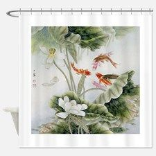 Koi fishes and lotus flowers Shower Curtain for Zen Bathroom, Master Bathroom, Lotus Flowers, Unique Animals, Koi, Fish, Shower Curtains, Gifts, Painting