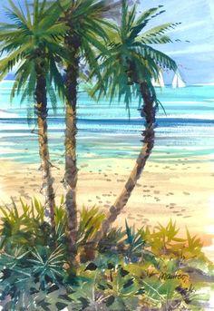 Palms at the Beach / William Maurer