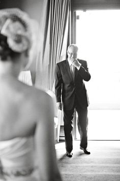 the moment when a father sees his daughter on her wedding day......priceless!!