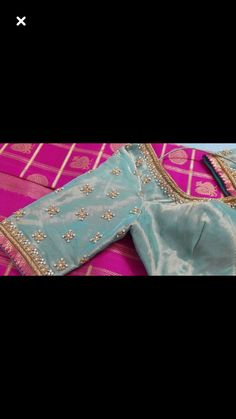 Simple Blouse Designs, Stylish Blouse Design, Bridal Blouse Designs, Simple Embroidery, Embroidery Designs, Maggam Work Designs, Pattu Saree Blouse Designs, Sari Design, Work Blouse