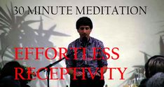 A 30 minute mindful meditation by Jeff Foster. Really well guided!