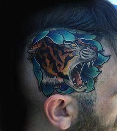 100 Head Tattoos For Men - Masculine Ink Design Ideas