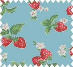 #oilcloth #cathkidston #strawberry This is one of my very very favorite oilcloth designs on the market. I don't have any of it yet, but I keep trying to find a bargain!