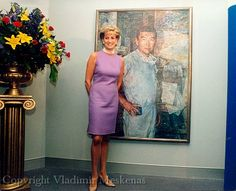 November 1, 1996:  Diana, Princess of Wales with Doctor Victor Chang portrait when she opened the Victor Chang Cardiac Research Institute in Sydney, Australia.
